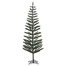 9 Foot Green Feather Artificial Christmas Tree Unlit