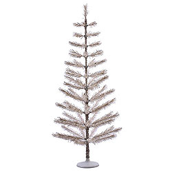 5 Foot Champagne Feather Artificial Christmas Tree Unlit