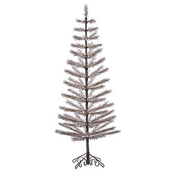 7 Foot Champagne Feather Artificial Christmas Tree Unlit