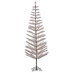 9 Foot Champagne Feather Artificial Christmas Tree Unlit