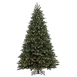 6.5 Foot Noble Instant Artificial Christmas Tree 500 LED Warm White Lights