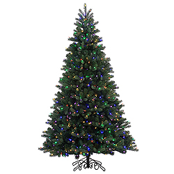 7.5 Foot Noble Instant Artificial Christmas Tree 800 LED Multi Lights