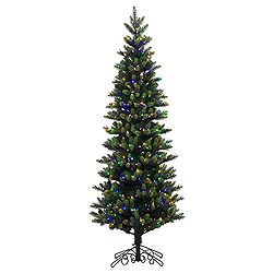 7.5 Foot Royal Instant Artificial Christmas Tree 600 LED Multi Lights