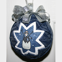 3 Inch Snowman In Blue Ornament