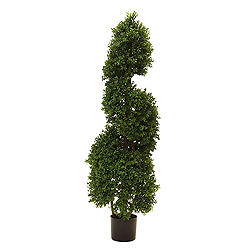 4.5 Foot Boxwood Spiral Artificial Christmas Tree