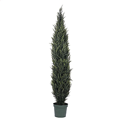 7 Foot Pond Cypress Potted Artificial Christmas Tree