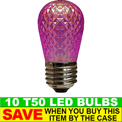 T50 LED Purple Retrofit Night Light Bulb Box of 10
