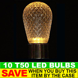 T50 LED Gold Retrofit Night Light Bulb Box of 10