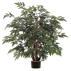 4 Foot Ming Aralia Bush Artificial Plant