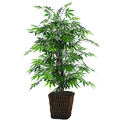 4 Foot Japanese Maple Artificial Bush