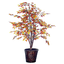 4 Foot Golden Birch Potted Artificial Plant