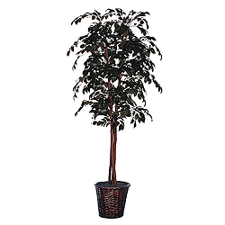 6 Foot Sakaki Deluxe Potted Artificial Plant