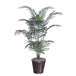 4 Foot Dwarf Palm Deluxe Potted Artificial Plant