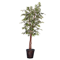 6 Foot Japanese Maple Deluxe Potted Artificial Plant