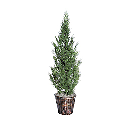 5 Foot Cedar Deluxe Potted Artificial Plant