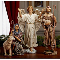 10 Inch Nativity Shepherda And Angels Collection 3 Piece Set