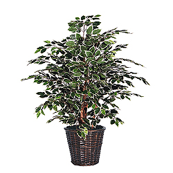 4 Foot Variegated Potted Artificial Plant