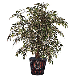 4 Foot Smilax Variegated Potted Artificial Plant