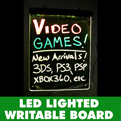 LED Lighted Writable Sign