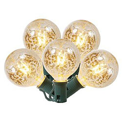 5 Incandescent G50 Globe Clear Crackle Retrofit C7 Socket Replacement Bulbs