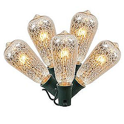 5 Incandescent ST40 Clear Crackle Glass C9 Socket Retrofit Replacement Bulbs