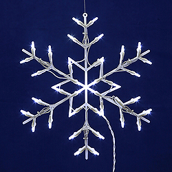 Lighted Snowflake Wire Frame Decoration - 50 C7 Lights