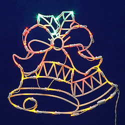 Lighted Double Bells Wire Frame Decoration - 50 C7 Lights