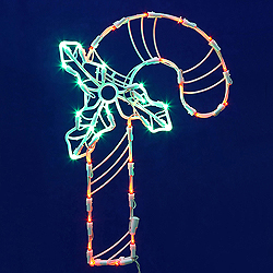 Candy Cane Wire Frame Decoration - C7 LED Lights