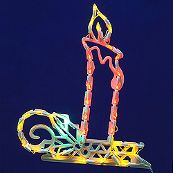 Lighted Candle Wire Frame Decoration - 50 C7 Lights