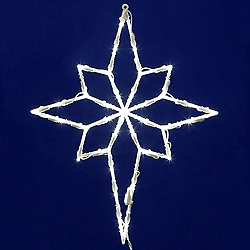 Lighted Bethlehem Star Wire Frame Decoration - 50 C7 Lights