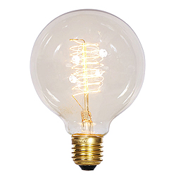 1 Incandescent G95 Clear Edison E26 Socket Retrofit Replacement Bulb