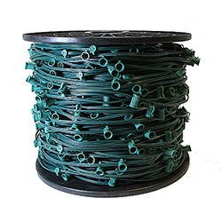 1000 Foot C7 Light Spool Green Wire 15 Inch Spacing