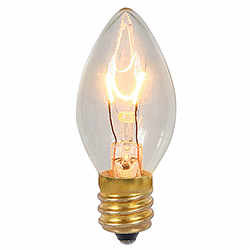 25 Incandescent C7 Clear Twinkle Transparent Retrofit Night Light Replacement Bulbs