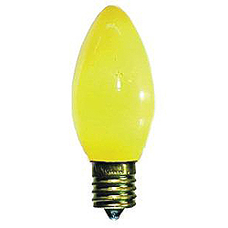 25 Incandescent C7 Yellow Ceramic Retrofit Night Light Replacement Bulbs