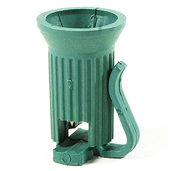 C9 Plastic Green Socket 16 Gauge Wire Box of 100