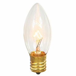 25 Incandescent C9 Clear Twinkle Transparent Retrofit Replacement Bulbs