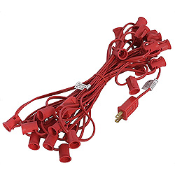 1000 Foot C9 Light String 12 Inch Spacing Red Wire