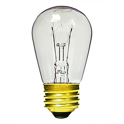 10 Incandescent S14 Patio Transparent Clear Retrofit Replacement Bulbs