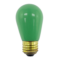 10 Incandescent S14 Patio Ceramic Green Retrofit Replacement Bulbs