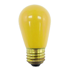 10 Incandescent S14 Patio Ceramic Yellow Retrofit Replacement Bulbs