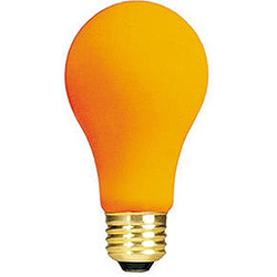 12 Incandescent A19 Orange Ceramic Replacement Light Bulbs - 25 Watts