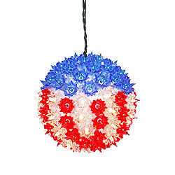 7.5 Inch Starlight Sphere - 100 Red White And Blue Lights