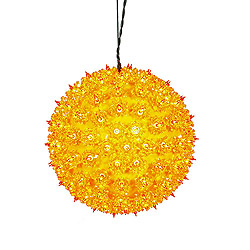 10 Inch Orange Starlight Sphere - 150 Orange Lights