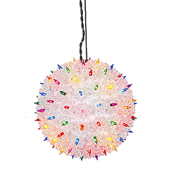 100 Incandescent Mini Multi Color Twinkle Star Sphere Light 7.5 Inch