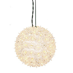 100 Incandescent Mini Clear Twinkle Star Sphere Light 7.5 Inch