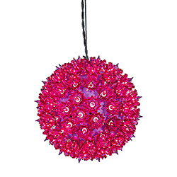 100 Incandescent Mini Purple Twinkle Star Sphere Light 7.5 Inch