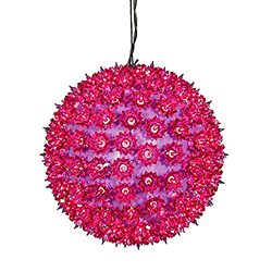 150 Purple Light 10 Inch Twinkle Star Sphere