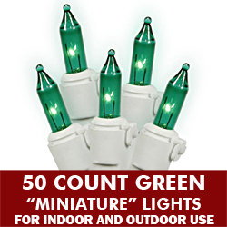 50 Light Green White Wire