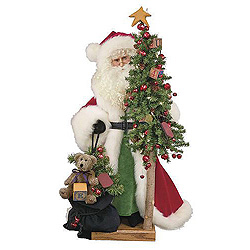 27 Inch Saint Nick With A Bag Of Toys