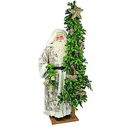 6 Foot Woodland Father Christmas With Tree Decoration
